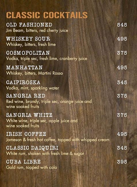 The Irish House menu 13