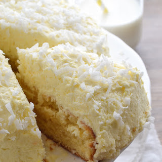 Coconut Cream Cake with Coconut Cream Frosting.
