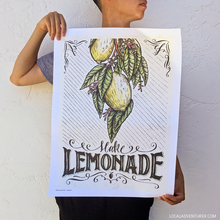 Make Lemonade Print from Sevenly Causebox.