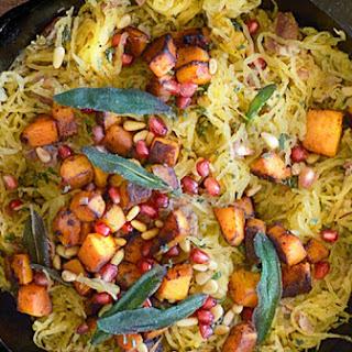 Spaghetti Squash with Prosciutto, Sage & Butternut Squash.