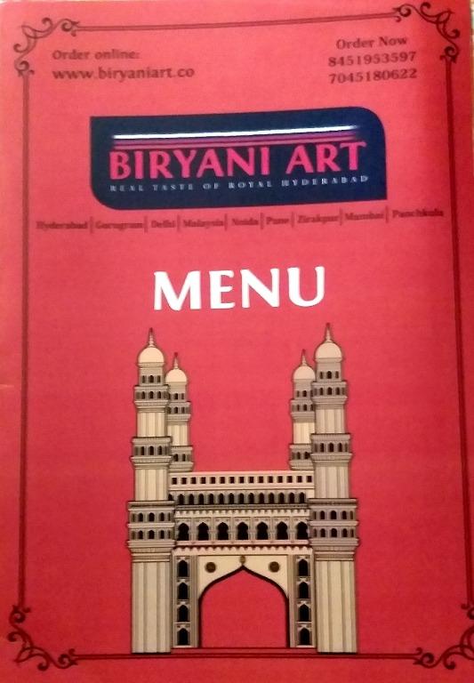 Biryani Art menu 2