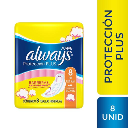 Toalla Sanitaria Always Plus Suave 8 Unidades toalla sanitaria always plus suave 8und