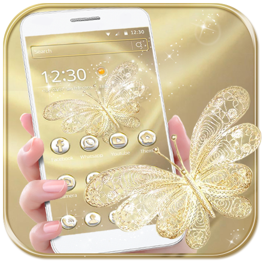 Gold Butterfly Theme Wallpaper luxury gold