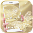Gold Butterfly Theme Wallpaper luxury gold icon