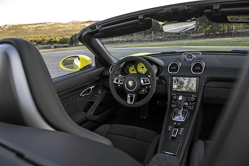 The interior gets a few GTS touches. Picture: PORSCHE