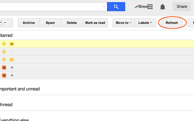 Gmail Refresh Button Fixer