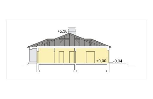 Mila wersja A z pojedynczym garażem - Przekrój