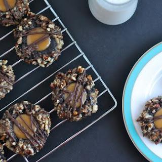 Chocolate Pecan Turtle Cookies