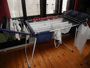 Photo: Laundry in the dining room