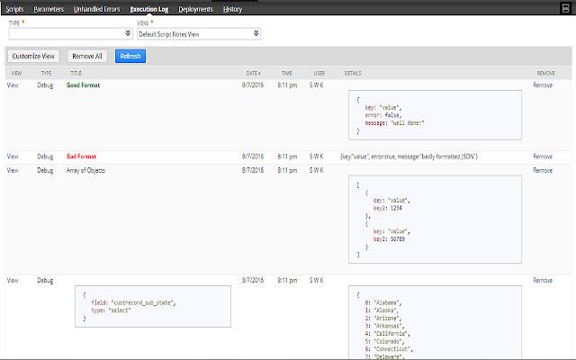 NetSuite: HTML Script Notes