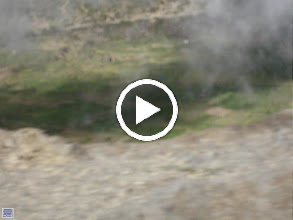 Video: Movie taken while in transit on Aluger over top of mountain looking down into crater.