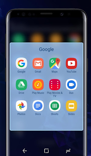 Download Galaxy S9 blue | Xperiau2122 Theme MOD APK 5