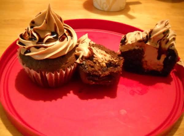 Chocolate Chip Peanut Butter Stuffed Cupcakes