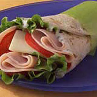 Easy Turkey Wrap Sandwich.
