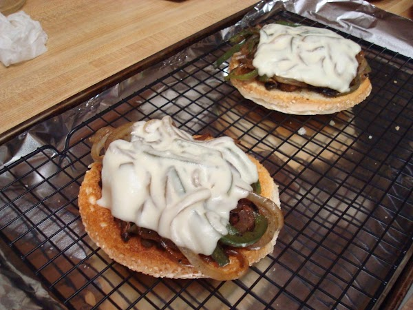 Top with 1 or 2 slices of your favorite cheese. Place under the broiler...