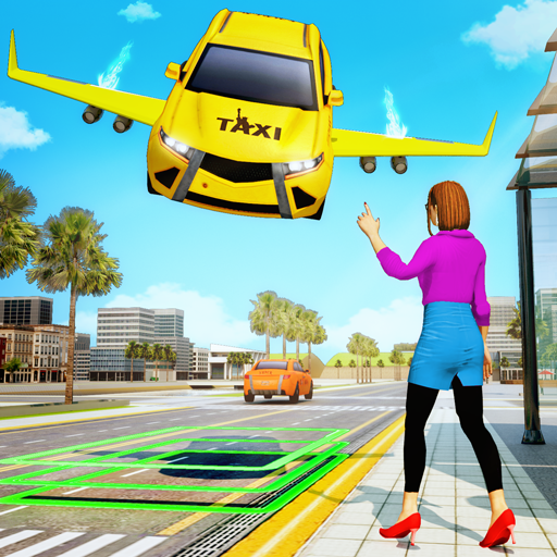 Flying Car Transport: Taxi Driving Games
