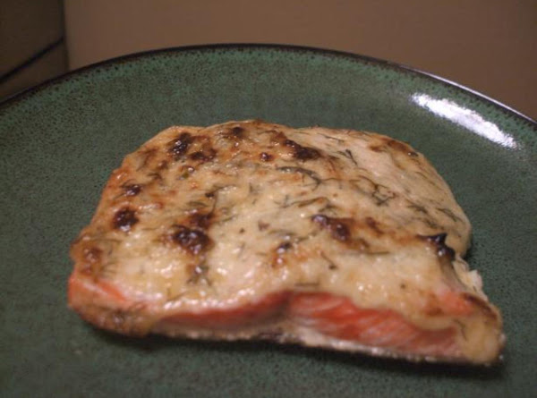 Baked Salmon With Herbed Mayo Recipe