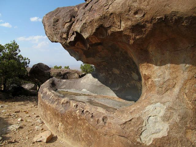 Void in a huge boulder