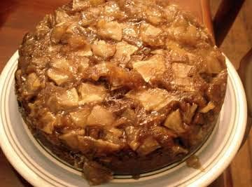Spiced Caramel Apple Upside Down Cake