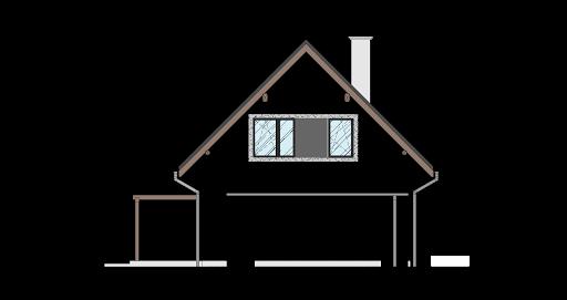 Energodom1 (oferta z budową) - Elewacja lewa