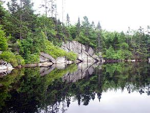Photo: In Pot Lake. The Bluff Trail comes down to the shore just to the right of the photo.