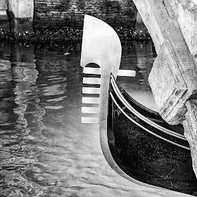 Venice peek-a-boo by Russ Quinlan - Black & White Buildings & Architecture ( venice, canal, travel, italy, boat, gondola )