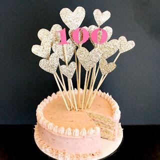Strawberry Lemon Layer Cake and Bakerita's 100th Post!