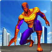Flying Spider Rope Hero: Crime City Rescue Mission