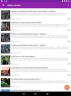 Relatos escritos- screenshot thumbnail