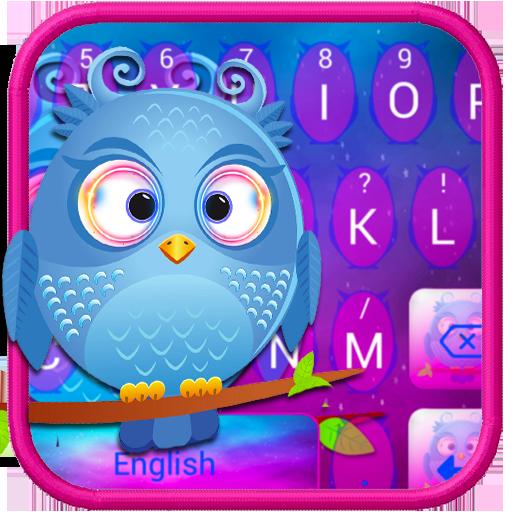 Cute Baby Owl Keyboard Theme