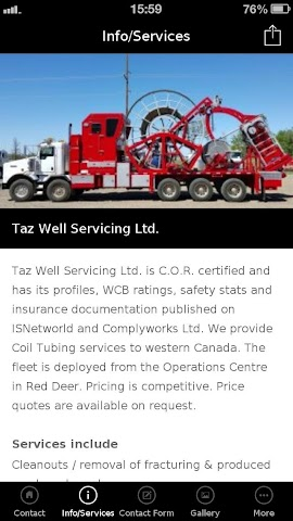 android Taz Well Servicing Ltd. Screenshot 3