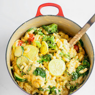 One Pot Roasted Vegetable Mac And Cheese