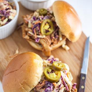 Slow Cooker BBQ Chicken Sandwiches.