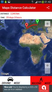 Maps Distance Calculator - náhled