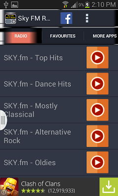 Sky FM Music Radio - screenshot