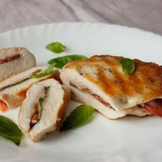 Chicken Breast With Tomatoes And Basil.