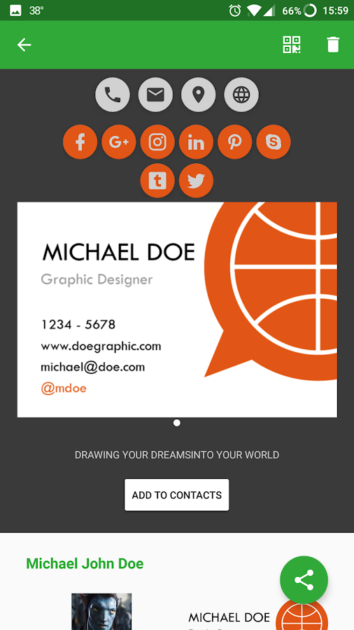Knowee - Digital Business Cards- screenshot