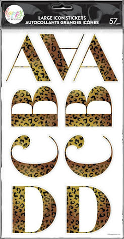 Me & My Big Ideas Happy Planner Alphabet Icon Stickers - Cheetah