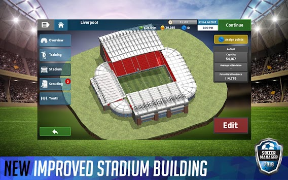 Soccer Manager 2018 (Kiadatlan) APK screenshot thumbnail 5