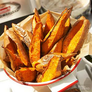 Baked Sweet Potato and Chile Wedges Recipe