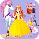 White Horse Princess Dress Up icon