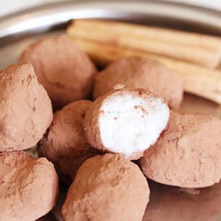 Cinnamon Dusted Coconut Truffles.
