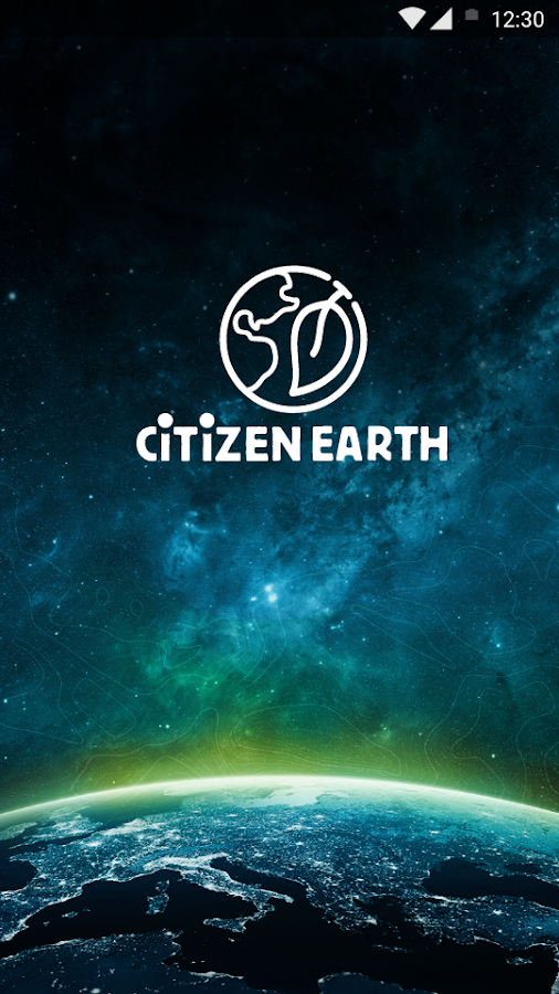 Citizen Earth App: captura de pantalla