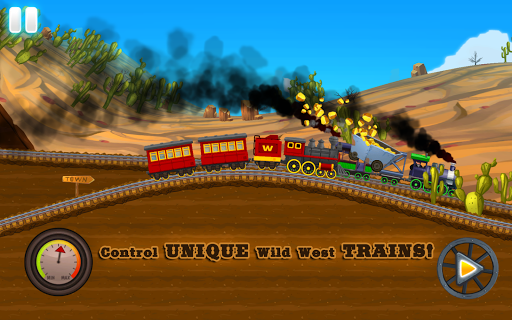 Western Train Driving Race screenshot 13