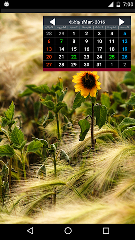 android sinhala calendar 2016 Screenshot 0