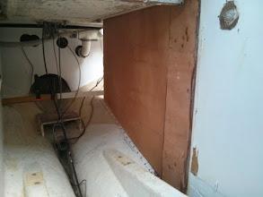 Photo: fitting new plywood panel