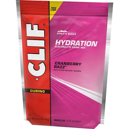 Clif Bar  Hydration Drink Mix: Cran Razz 20 Serving Pouch