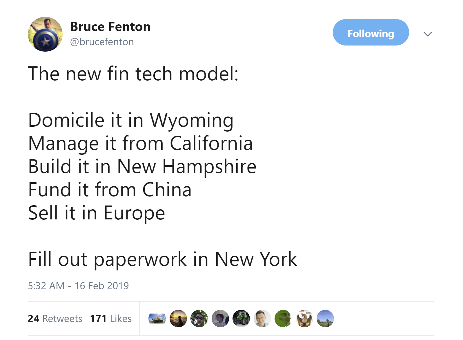 Bruce Fenton Wyoming Tweet