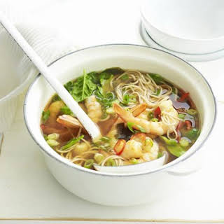 Prawn And Shiitake Miso Soup.
