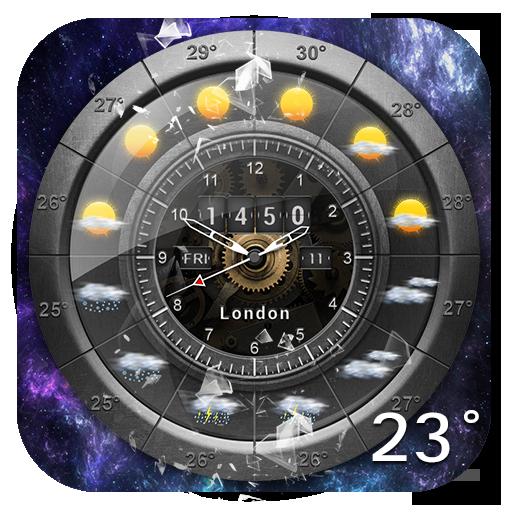 Weather and Analog Clock Widget